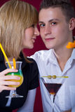 Couple at bar Stock Images