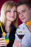 Couple at bar royalty free stock photography