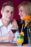 Couple at bar Royalty Free Stock Photos