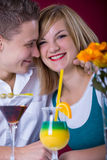 Couple at bar Stock Image