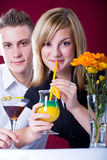 Couple at bar Royalty Free Stock Photography