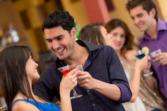 Couple at the bar Stock Photography