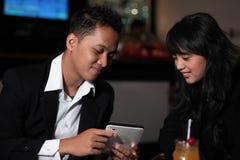 Couple at bar Stock Photo