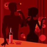 Couple in bar toasting Stock Photos