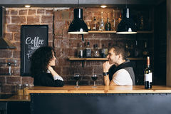 Couple at the bar Royalty Free Stock Photography