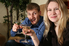 Couple in bar2 Stock Image