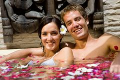 Couple In Bath Stock Photo