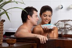 Couple in Bath tub Royalty Free Stock Image