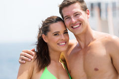 Couple bathing suits Royalty Free Stock Image