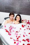 Couple in bathroom Royalty Free Stock Photo