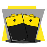 Couple of batteries Royalty Free Stock Photography