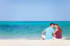 Couple on the beach Stock Images