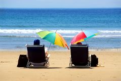 Couple beach Stock Image