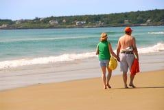 Couple beach Stock Photo