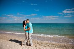 A couple on beach Stock Photos