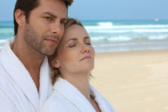 Couple on the beach Royalty Free Stock Image