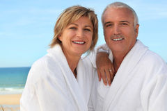Couple on the beach Stock Photos