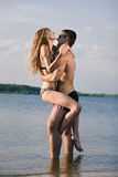 Couple on beach Royalty Free Stock Photo