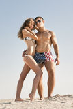Couple on beach Royalty Free Stock Photography