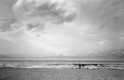 Couple on the beach. Royalty Free Stock Photography