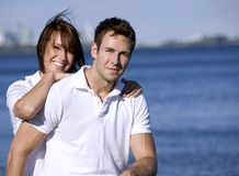 Couple on the beach Stock Image