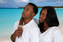 Couple At Beach Royalty Free Stock Photography