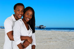Couple At Beach Stock Photography