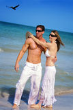 Couple at beach Stock Image