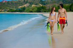 Couple On Beach Stock Image