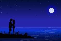 Couple_beach 免版税图库摄影