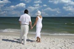Couple on the beach Stock Photo