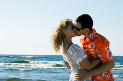 Couple on the beach. Royalty Free Stock Photos