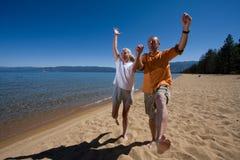 Couple on beach Royalty Free Stock Image