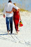 Couple on beach Royalty Free Stock Images