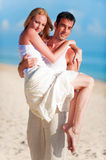 Couple On Beach Royalty Free Stock Photos