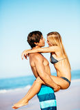 Couple at the Beach Royalty Free Stock Images