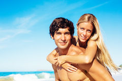 Couple at the Beach Stock Photography