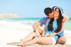 Couple on the beach. Stock Image