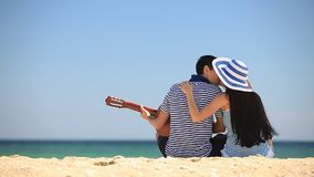 Couple on the beach. stock video footage