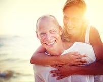 Couple Beach Bonding Getaway Romance Holiday Concept Stock Photography