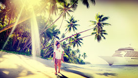 Couple Beach Bonding Romance Holiday Concept Royalty Free Stock Images