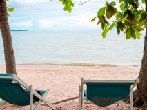 Beach Sun Bed royalty free stock photos