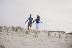 Couple beach day Stock Images