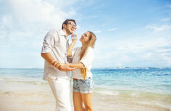 Couple on a beach Royalty Free Stock Photo