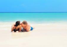 Couple on the beach. Royalty Free Stock Photos