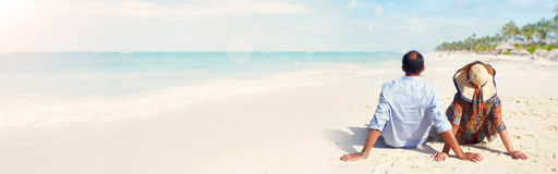 Couple on the beach Stock Photography