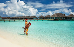 Couple on a beach at Maldives Stock Photo