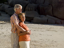 A couple on the beach. Stock Image