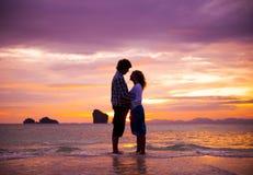 A couple on the beach outdoors concept Stock Photos