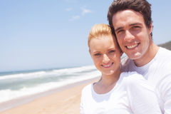 Couple at beach Stock Photos
